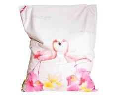 In- en outdoor zitzak Big Bag Flamingo Love, B 170 cm | Westwing Home & Living