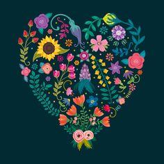 Floral Heart by Anna Deegan