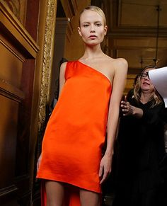 orange haute couture fashion | Fashion trend: orange - Fashion Galleries - Telegraph