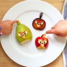 Fruit Angry Birds by Marie Saba ~ Austin, TX (@mariesaba)