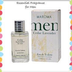 Maroma Men: Cedar Lavender  Natural, Clean and Masculine For The Man In Your Life. Cedar And Lavender Eau De Toilette.