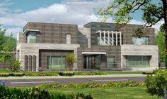Karachi 2 kanal Modern Contemporary Beautiful House Design + Basement Plan Lahore Pakistan 3d Front elevation
