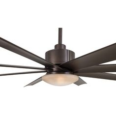 Slipstream 65 Inch Ceiling Fan In Oil Rubbed Bronze With Tinted Opal Glass And Eight Blade
