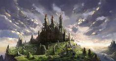Castle Picture big by Drawingm Fantasy castle Fantasy landscape Castle art