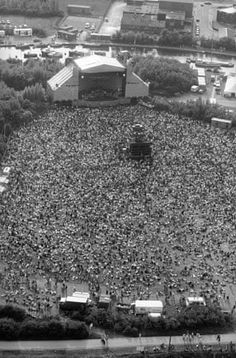 'From above' photo of the Spike Island Stone Roses gig in Woah