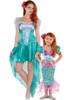 Ariel The Little Mermaid Mommy and Me Costumes