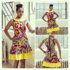 Ankara Short Gown Styles 2015 : Hey My lovely Peoples hope you are doing great over here. we are still on Ankara styles, we have no choices Ankara dresses African Inspired Fashion, African Print Fashion, Africa Fashion, African Print Dresses, African Fashion Dresses, African Dress, African Prints, Ghanaian Fashion, African Attire