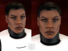 Star Wars Finn action figure ooak by theugliestwife