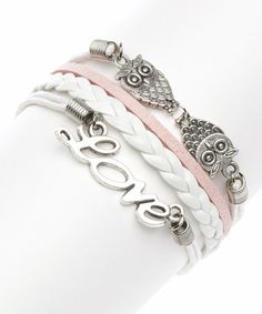 Loving this Pink Love Braided Bracelet on #zulily! #zulilyfinds