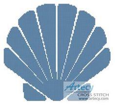 Artecy Cross Stitch. Shell Design 1 Cross Stitch Pattern to print online.