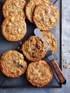 Delicious gluten-free choc-chip hazelnut cookies to please your sweet tooth Chocolate Chip Cookies, Brown Butter Cookies, Hazelnut Cookies, Fudge Cookies, Galletas Cookies, Baking Cookies, White Chocolate Recipes, Chocolate Cookie Recipes, Chocolate Hazelnut