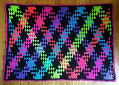 RockinLola Neon Granny Stitch Planned Pooling Crochet Blanket