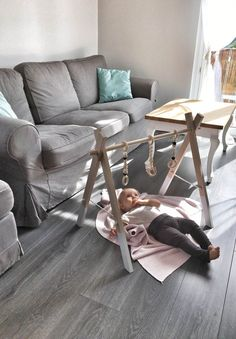 Stojak edukacyjny BabyGym 100% drewna bukowego - Little_Leaf_Handmade - Drewniane zabawki