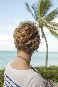 Hair Romance - Dutch Braid Updo hairstyle in curly hair