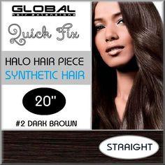 Flip in Hair Extensions #2 Dark Brown by Global Hair Extensions