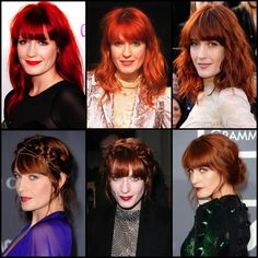Celebrate Florence Welch's various hair hues and up-dos!
