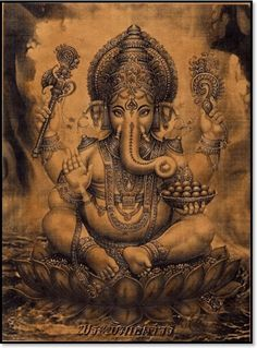 Ganesha Hindu- back piece representing the Remover of Obstacles and the Lord of Beginnings Arte Ganesha, Lord Ganesha, Shri Ganesh, Hanuman, Ganesh Tattoo, Backpiece Tattoo, Tattoo Ink, Hand Tattoos, Spirituality