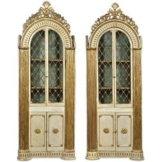 PAIR of Italian Neoclassical Library Cabinets or Bookcases | From a unique collection of antique and modern bookcases at http://www.1stdibs.com/furniture/storage-case-pieces/bookcases/