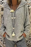 Shopping Hooded Loose Fitting Plain Sweaters online with high-quality and best prices Sweaters at Luvyle. Handgestrickte Pullover, Pullover Sweaters, Knitting Sweaters, Hooded Sweater, Vetement Hippie Chic, Fashion Outfits, Womens Fashion, Fashion Trends, Latest Fashion