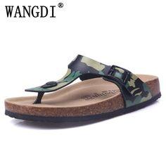08b21ec107f Fashion Women Slippers Flip Flops Summer Beach Cork Shoes Slides Girls  Flats Sandals Casual Shoes Mixed