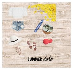 """summer date night"" by tessanlarsson on Polyvore featuring Miguelina, One Teaspoon, Janessa Leone, Marc by Marc Jacobs, Tory Burch, Urban Decay, Eos and Benefit"