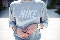 love dressing up an overwashed sweatshirt with jewels