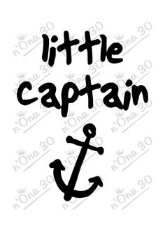 LITTLE CAPTAIN design file for Silhouette or other por Nona30