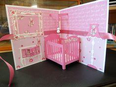 Een schattig babykaartje! 3d Cards, Pop Up Cards, Baby Shower Cards, Baby Cards, Diy Paper, Paper Crafts, Umbrella Cards, Tarjetas Pop Up, Valentine Box
