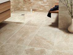 Porcelain (stone-effect) textured tiles for bathroom floor