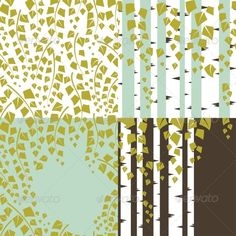 Patterns and Backgrounds of Green Trees.