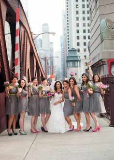 Modern Neon Chicago wedding | Real Weddings and Parties | 100 Layer Cake
