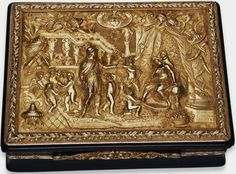 The marriage of Alexander the Great and Roxana, a chased gold plaque made by Ishmail Parbury, 1745. British Museum.