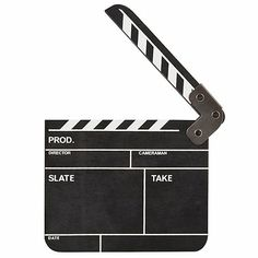 Black small clapper board (Debenhams)