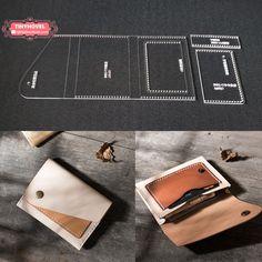 Homme créateur effet vieilli cuir véritable slim raw fabriqué à la main portefeuille carte de crédit h