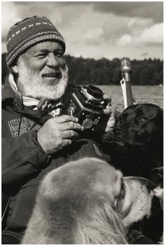 Bruce Weber with dogs by MichaelMurphy
