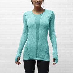 Nike Dri-FIT Knit Long-Sleeve Women s Running Shirt Workout Gear 8b0d829d293f2