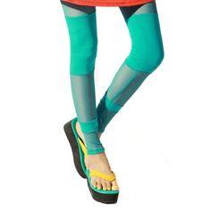 LOCOMO Women Mesh Inset Ankle Length Footless « Clothing Impulse