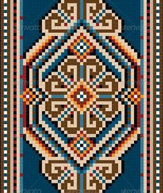 """Buy Ancient Oriental Design with Frame for Carpet by tatyanamh on GraphicRiver. Oriental design for the carpet and ornamental details for the frame. Vector Main files and """"full. Embroidery Motifs, Cross Stitch Embroidery, Loom Patterns, Mosaic Patterns, Cross Stitch Designs, Cross Stitch Patterns, Oriental Design, Oriental Style, Oriental Rugs"""