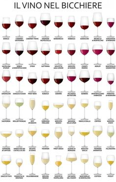The wine tasting party strategy is an easy process that will assist you to recognize particular type of qualities associated with a beer while you are savoring it. Wine Mixed Drinks, Wine Drinks, Types Of Wine Glasses, Types Of Champagne Glasses, Red Wine Glasses, Different Types Of Wine, Wine Types, Wine Facts, Wine Chart
