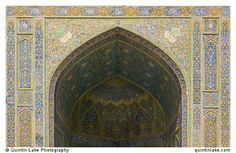 North iwan coverd in polychromatic tiles. Imam Mosque, Isfahan, Iran. Photo: Quintin Lake