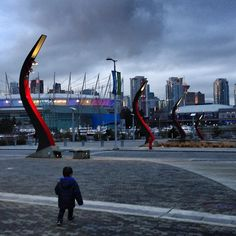 Vancouver, BC - BC Place & Rogers Arena in the background. Taken from Olympic Village  (Photo by echo16)
