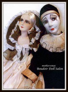 boudoir doll cloth french pierrot