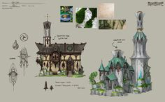 ArtStation - Elf Buildings , Neil Richards