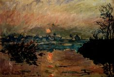 Claude Monet Sunset painting for sale, this painting is available as handmade reproduction. Shop for Claude Monet Sunset painting and frame at a discount of off. Monet Paintings, Impressionist Paintings, Landscape Paintings, Impressionism Art, Claude Monet, Pierre Auguste Renoir, Edouard Manet, Nocturne, Artist Monet