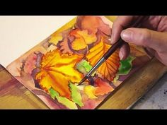 From her creative studio space in Vancouver, Leslie Redhead shares the essential techniques she uses when creating beautiful hand-made cards with watercolour. Kids Watercolor, Watercolor Video, Watercolor Leaves, Watercolour Tutorials, Watercolor Techniques, Watercolor Cards, Watercolour Painting, Painting Techniques, Painting Lessons