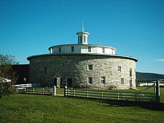 Hancock Shaker Village, MA.  Round Barn, incredibly clever design.
