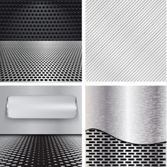 Various metal style background set vector 01 - Vector Background free download