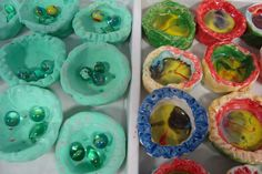 Once upon an Art Room: Clay Pinch Pots with Melted Marbles