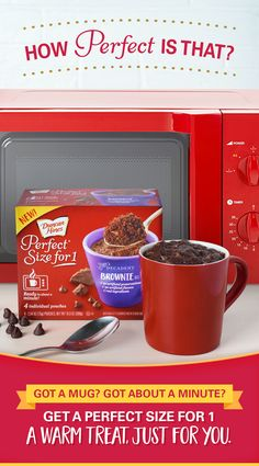 No wait, no mess, no leftovers. No kidding! Introducing Perfect Size for 1.