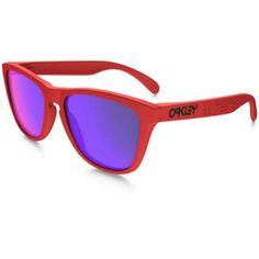 Oakley B1B Frogskins Sunglasses - MATTE RED W/ FIRE IRIDIUM